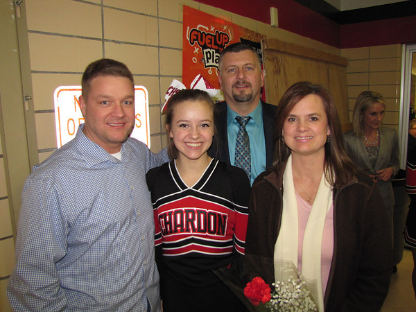 '14 Chardon Cheerleading/Boys BB Sr. Night!